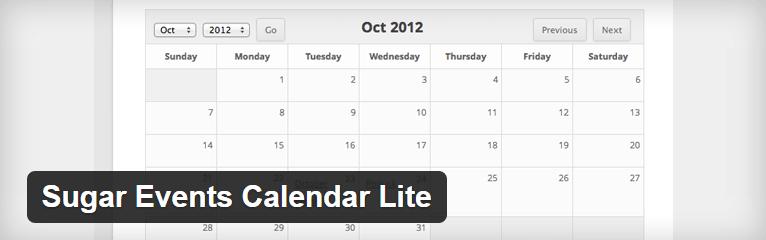 Sugar Events Calendar Lite