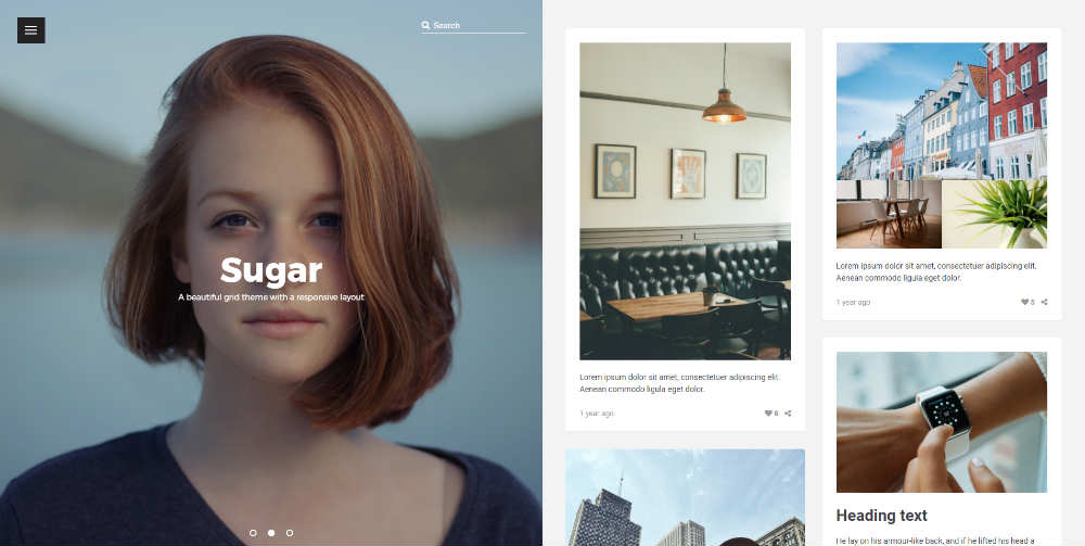 Sugar Tumblr Theme