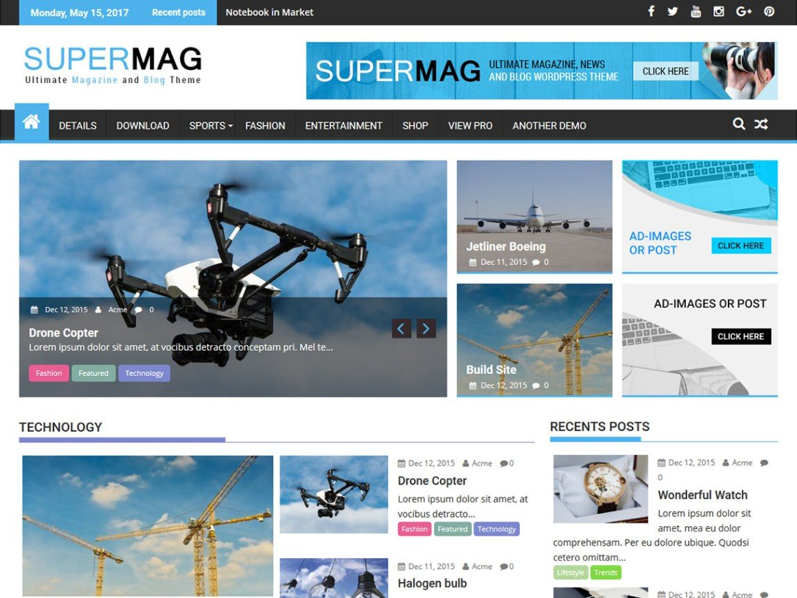 SuperMag Theme