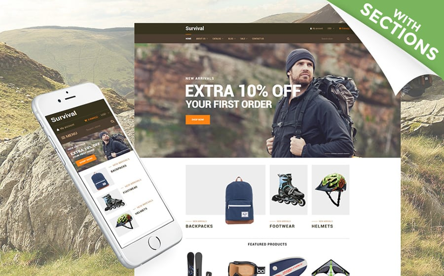 Survival Shopify Theme
