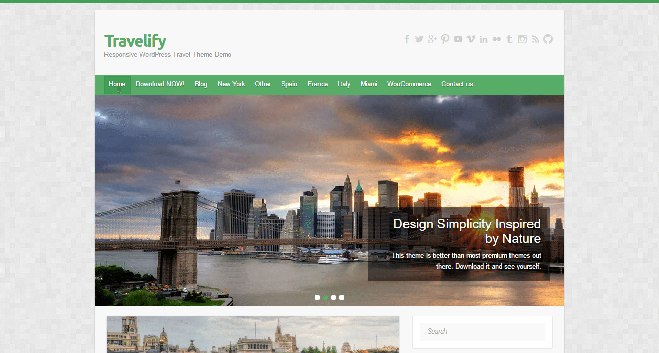 Travelify Theme
