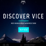 VICE Best Music WordPress Theme