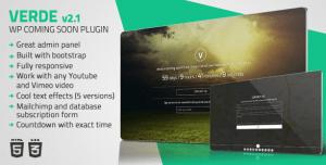 verde-wordpress-coming-soon-plugin