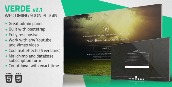 verde-wordpress-coming-soon-plugin