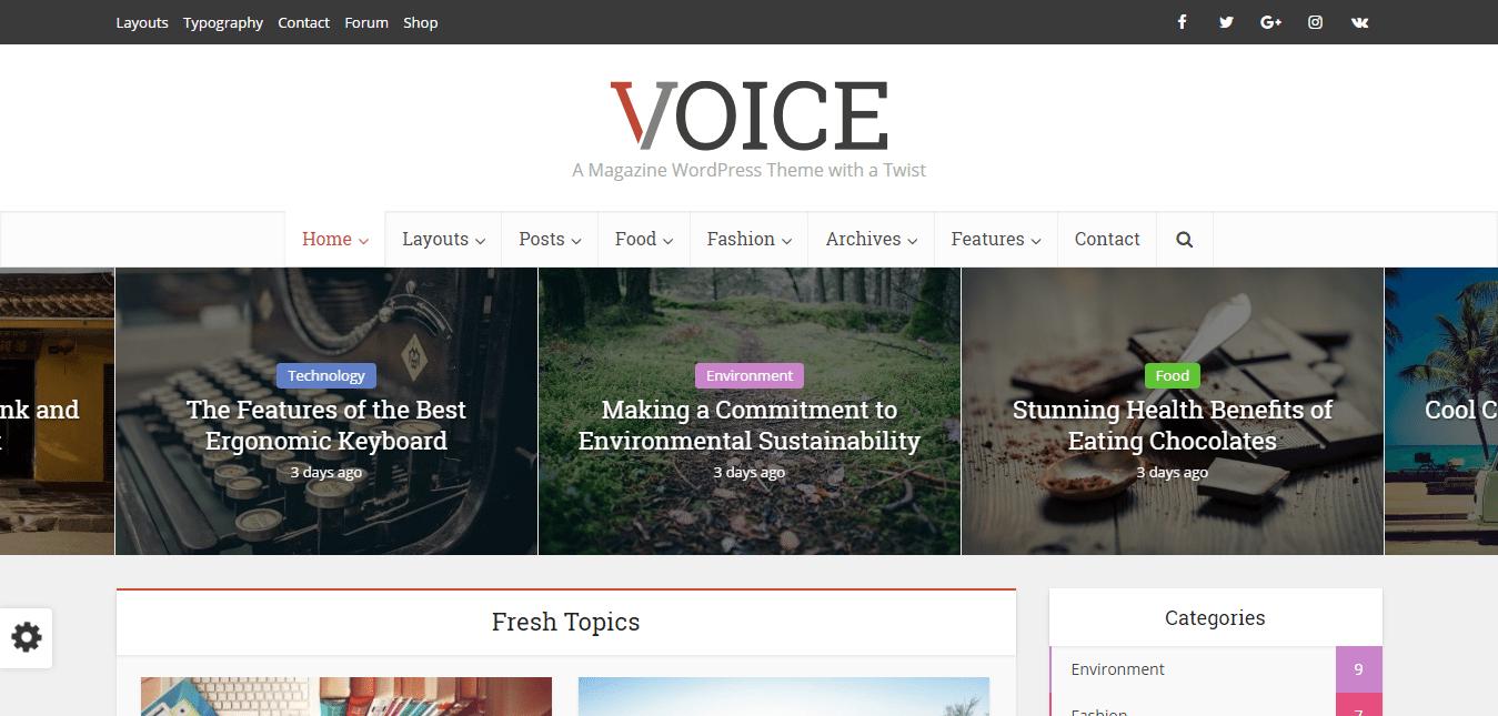 Voice Theme