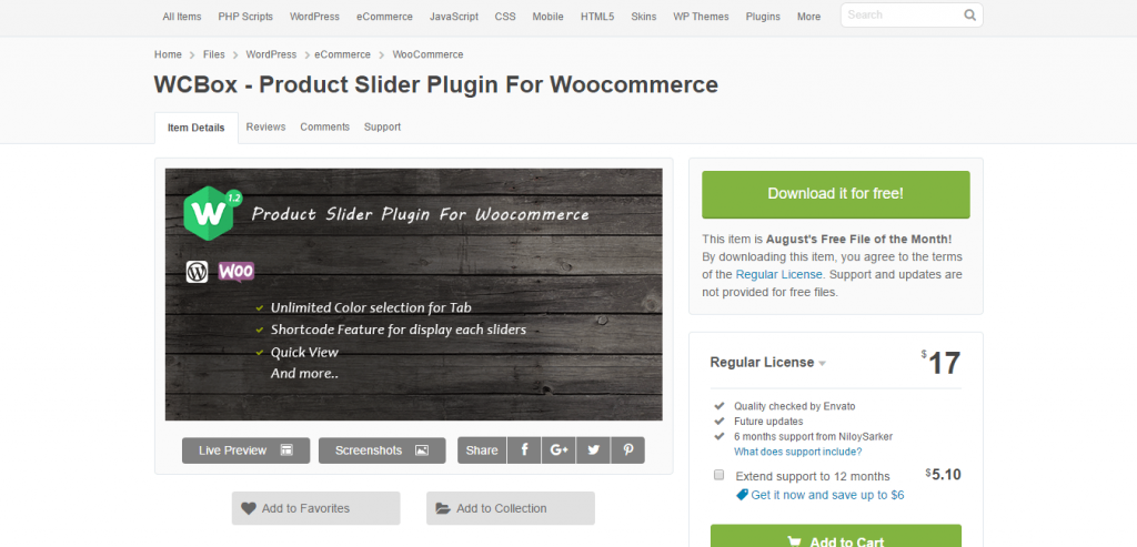 WCBox Product Slider Plugin For Woocommerce
