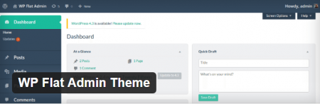 WP Flat Admin Theme