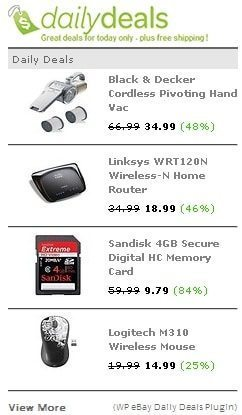 WP eBay Daily Deals