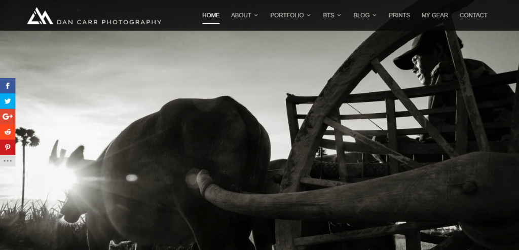 Whistler Photographer divi theme example