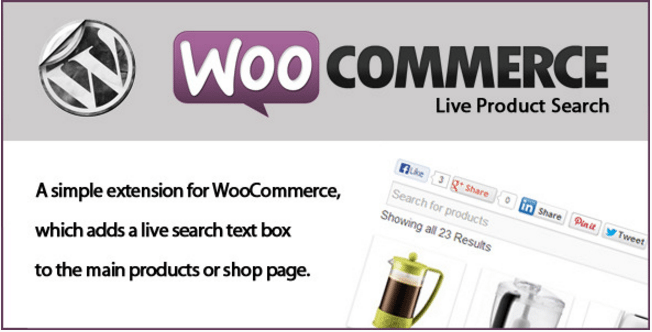Woocommerce Live Product Search