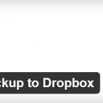 WordPress Backup to Dropbox