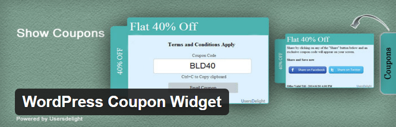 WordPress Coupon Widget