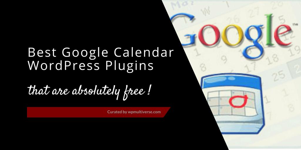 5 Free WordPress Google Calendar Plugins 2019 | SoftwareFindr