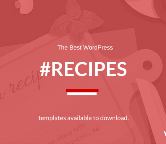 Best Food Blog Theme for Recipe blogs 2018