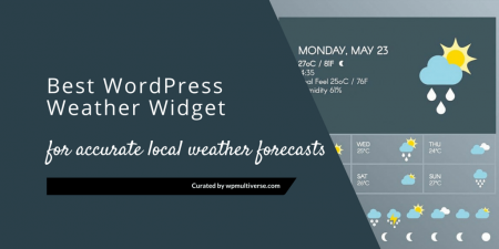 6 Best WordPress Weather Forecast Plugins & Widgets 2019