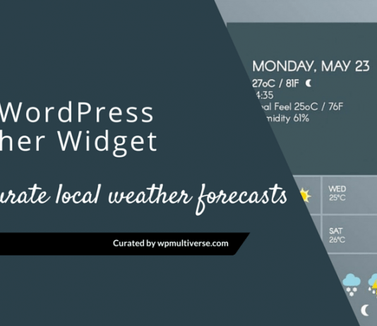 Best WordPress Weather Forecast Plugins & Widgets 2019
