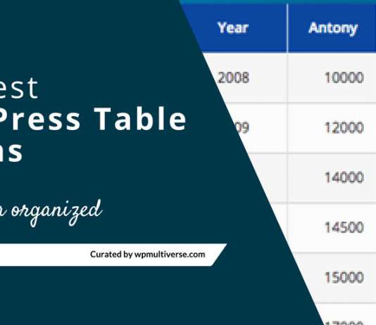 Best Free Responsive WordPress Table Plugin (2019)