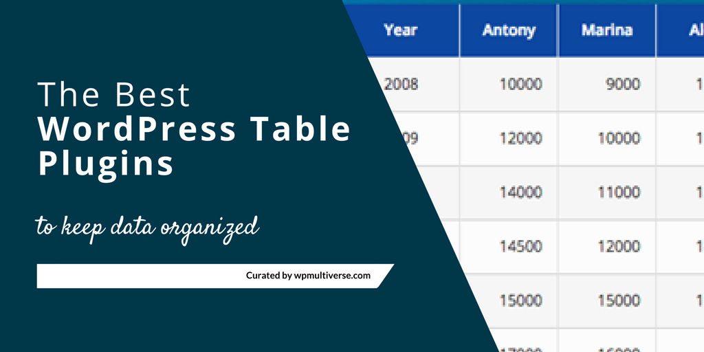 12 best table plugin for wordpress 2018 compared for Table design wordpress plugin