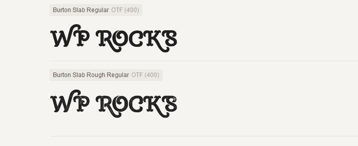 burton slab typeface