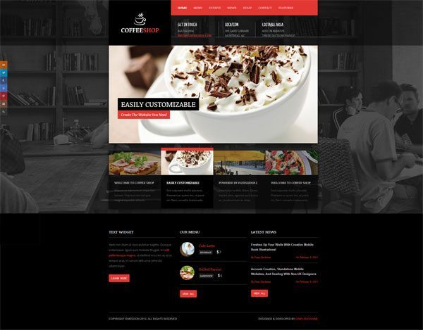 Coffee Shop-WordPress Theme