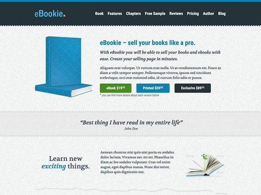eBookie Theme