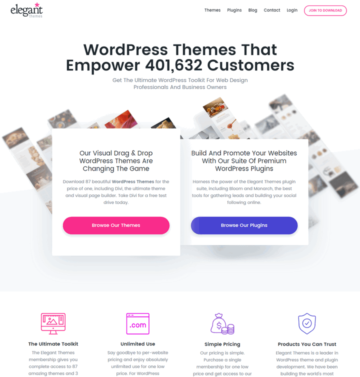 Features List  Elegant Themes WordPress Themes