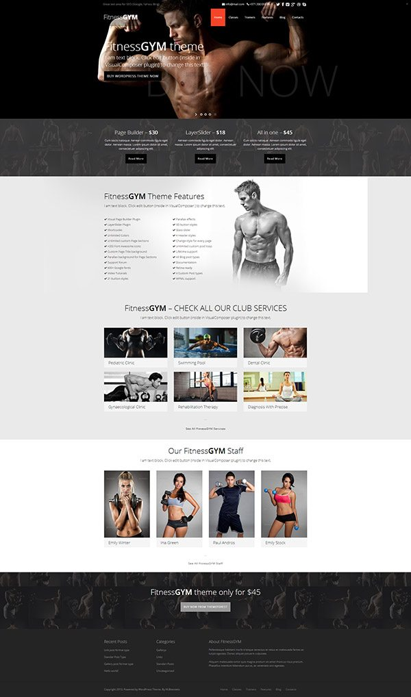 Fitnessgym Wordpress Theme Download Amp Review 2018