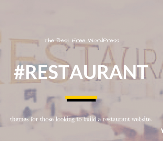Best Free Restaurant WordPress Themes 2019