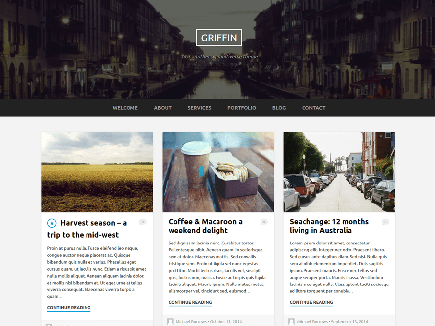 Griffin WordPress Theme