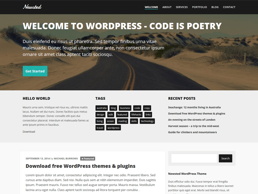 Newsted WordPress Theme
