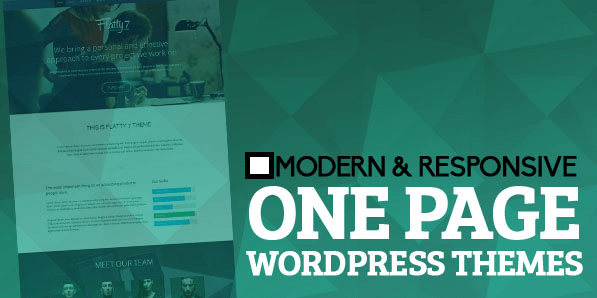 Best One Page WordPress Themes 2018