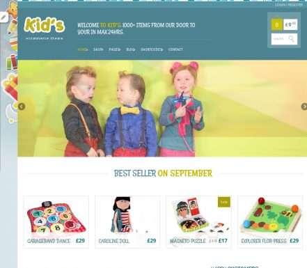 top-10-free-ecommerce-wordpress-themes-kidshop
