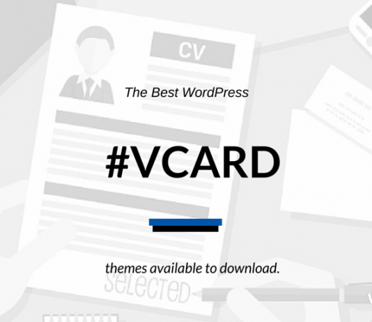 Free/Paid WordPress vCard Themes 2018